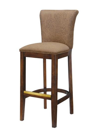 Cowhide Bar Stools. The ar stool is upholstered