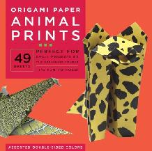 Origami Paper Animal Prints 8 1/4″ 49 Sheets (Paperback)